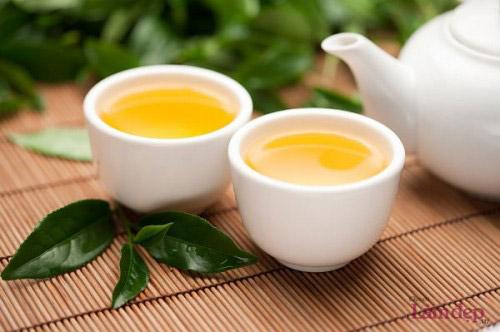 uống trà xanh cải thiện làn da