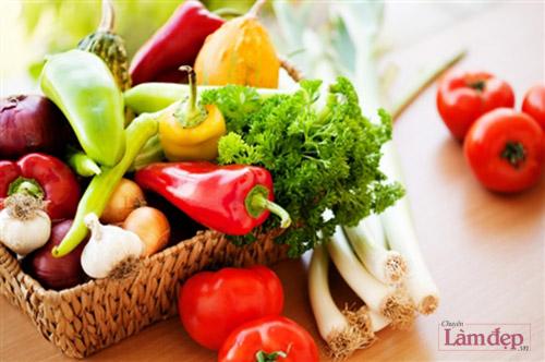 ăn nhiều rau quả cải thiện làn da